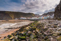 Rocks in Staithes Harbour Royalty Free Stock Photo
