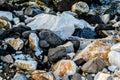 Rocks And Stones On Seashore Royalty Free Stock Photo