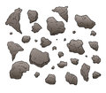 Rocks and stones set collection Royalty Free Stock Photo