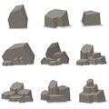 Rocks and stones set element vector Royalty Free Stock Photo