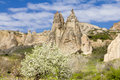 Rocks tuff cappadocia rock against the blue sky in the valley of love Stock Image