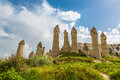 Rocks of an unusual form in valley of love in summer day cappadocia the turkey Stock Image