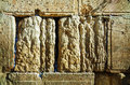 Rocks of the wailing wall close up in jerusalem israel Royalty Free Stock Photo