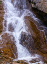 Rocks waterfall beautiful streams flowing among stones and in the altai mountains russia Royalty Free Stock Photo