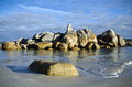 Rocks and waves, Bay of Fires, Tasmania Royalty Free Stock Images
