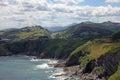 Rocky atlantic ocean coast in cantabria at castro urdiales spain Royalty Free Stock Photos