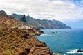 Rocky atlantic ocean coast near benijo tenerife canary islands spain Royalty Free Stock Photo