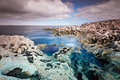 Rocky Atlantic ocean scenery in Burren Royalty Free Stock Photography