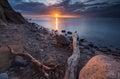 Rocky Baltic sea shore Royalty Free Stock Photo