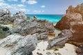 Rocky bay in Bermuda island Royalty Free Stock Photo