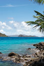 Rocky bay in the islands Stock Image