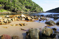 Rocky beach along the otter hiking trail in western cape south africa Stock Images