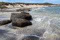 Rocky Beach at Augusta Western Australia Stock Photos