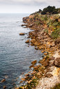 Rocky beach boca de inferno mouth of hell in cascais near lisbon portugal Stock Image