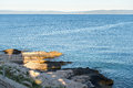 Rocky beach in Istria Royalty Free Stock Photo