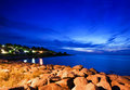 Rocky Beach at Twilight Royalty Free Stock Image