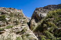 Rocky canyon a in the indian himalayas Stock Photo