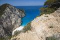 Rocky cliffed coast beautiful bay surrounded by zakynthos Royalty Free Stock Photography