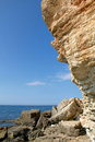 Rocky cliffs, the Black Sea coast Royalty Free Stock Photography