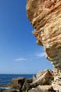 Rocky cliffs, the Black Sea coast Stock Photography