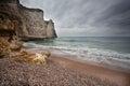 Rocky coast on atlantic ocean in france normandy Stock Photo