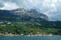 Rocky coast of black sea ukraine crimea mountains and landscape Royalty Free Stock Photos