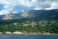 Rocky coast of black sea ukraine crimea mountains and landscape Stock Photo