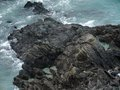 Rocky coast detail high angle of a in brittany france Stock Photography