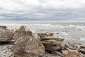 Rocky coast of gotland sweden island in the baltic sea in Royalty Free Stock Photo