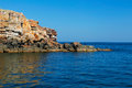 The rocky coast of the island of Serpents Royalty Free Stock Image