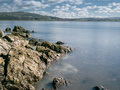 Rocky coast at jenny brown s point silverdale lancaster lancashire uk Royalty Free Stock Image