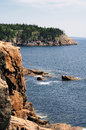 Rocky coast of maine the from atop cliffs Stock Photography