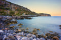 Rocky Coast near Monemvasia Royalty Free Stock Photo