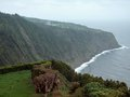 Rocky coastal scenery at the azores sao miguel island biggest island of archipelago a group of vulcanic islands located in Stock Photos