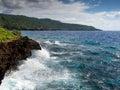 Rocky Coastline, Christmas Island, Australia Royalty Free Stock Photo