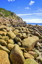 Rocky Coastline,  Cornwall, England Royalty Free Stock Photo