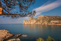 Rocky coastline of novyi svet recreation area crimea ukraine Royalty Free Stock Photos