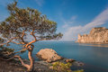 Rocky coastline of novyi svet recreation area crimea ukraine Stock Photo