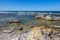 Rocky coastline of sweden the baltic sea fårö island in gotland Royalty Free Stock Photography