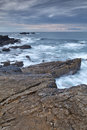 The rocky coasts of northern spain Royalty Free Stock Image
