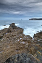 The rocky coasts of northern spain Stock Images