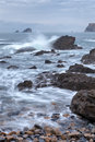 The rocky coasts of northern spain Royalty Free Stock Photos