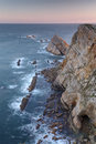 Rocky coasts of northern spain Royalty Free Stock Images