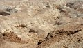 Rocky desert landscape texture textured brown near the dead sea Stock Image