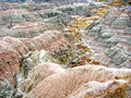 Rocky formations badlands south dakota Royalty Free Stock Images