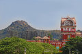 Rocky Hill and Eureka Building in Ramoji Film City Royalty Free Stock Photo