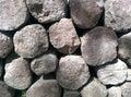 Rocky historic rock at chichen itza Royalty Free Stock Photos