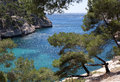 Rocky inlet near cassis france Royalty Free Stock Image