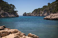 Rocky inlet near cassis france Stock Image
