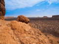 Rocky landscape of damaraland view from vingerklip namibia Royalty Free Stock Image